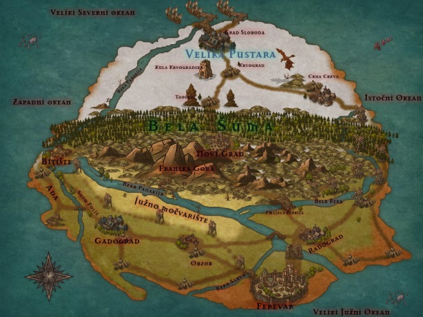 Pan Oneja Mapa sveta